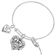 """Dance"" 3 Charm Bracelet, Safe-Hypoallergenic, Nickel, Lead and Cadmium Free"