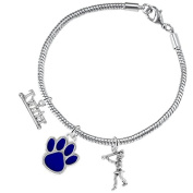 """The Perfect Gift, """" Majorette Jewellery """" Blue Paw Hypoallergenic Adjustable, Safe-Nickel, Lead Free"""