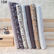 7Pcs/Set Quilting Fabric Floral Cotton Cloth DIY Craft Sewing Handmade Accessory