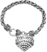 The Perfect Gift Quinceanera Hypoallergenic Bracelet, ©2015 Safe-Nickel, Lead, & Cadmium Free!