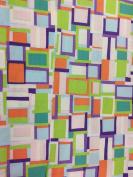 Jane Makower Cotton Dress Fabrics – Geometrics & Lace Stories Crazy Squares L65