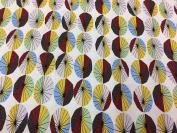 Jane Makower Cotton Dress Fabrics – Seaside Collection - Parasols R48