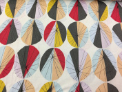 Jane Makower Cotton Dress Fabrics – Seaside Collection - Large Parasols