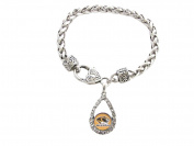 Missouri Tigers Teardrop Crystal Black Charm Charm Bracelet Jewellery MU.