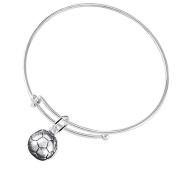 Soccer Jewellery ©2016 Hypoallergenic Adjustable Bracelet, Safe-Nickel, Lead Free