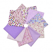 RainBabe Cotton Poplin Fabric Quarter Bundle Sewing Scrapbooking Patchwork Quilting Fabric 10Pcs