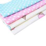 RainBabe DIY Sewing Scrapbooking Ice Cream and Bonbons Polka Dots on the Background Quilting 4Pcs