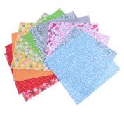 RainBabe Floral DIY Sewing Patchwork Cotton Fabric Quarter Bundle Patchwork Quilting Fabric 25x25cm 12Pcs