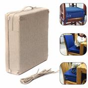 Bazaar 38.5x38.5x38cm Kids Sponge Highchair Seat Pad Chair Booster Cushion Toddler High Cushion Cover