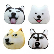 Plush 3D Printed Samoyed Husky Doge Dog Throw Pillow Alaska Dog Cushion^.