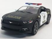 13cm Kinsmart 2015 Ford Mustang GT Police Car 1:38 Diecast Model Toy Cop Car