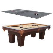 Barrington 0.7sqm Leg Billiard Pool Table & Table Tennis Top w/ Accessories