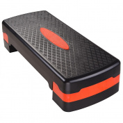 70cm x 28cm Fitness Aerobic Stepper 10cm - 15cm Adjustable Stepper Platform Exercise Fitness Workout