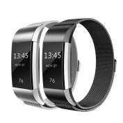 Fitbit Charge 2 Strap Bands Milanese Stainless Steel Adjustable Replacement Accessories Bracelet Strap with Magnetic Metal Lock for Fitbit Charge 2