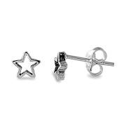 Stunning Sterling Silver Open Star Stud Earrings
