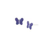 Children's Purple Butterfly Earrings in Sterling Silver
