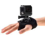 PULUZ 360 Degree Rotation Glove Style Palm Strap Mount Band for GoPro HERO5 /4 Session /4 /3+ /3 /2 /1, Xiaomi Yi Sport Camera