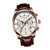 KASHIDUN Men's Watches Army Wrist Watch Casual Quartz Military Sporty Fashion Waterproof Date Leather.929