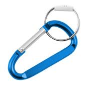 6.4cm Small Carabiner Key Chain - Light Blue