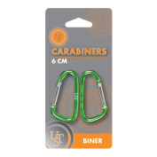 UST 6 cm Carabiners (2-Pack), Assorted Colours