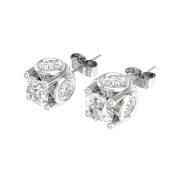 De Couer 14k White Gold 1ct TDW Diamond Stud Earrings - White H-I