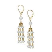 Jewelmak Inc. 14k White Pearl Chandelier Leverback Earrings