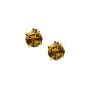 Jewelmak Inc. 14k Yellow Gold Citrine Stud Earrings