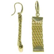 Jayden Star Isla Simone - 18 Karat Gold Electro-Plated Weave Link Earrings
