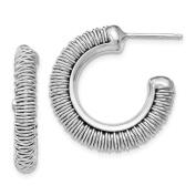 Versil Sterling Silver Rhodium Plated Fancy Earrings, By