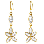 Orchid Jewellery Mfg Inc Orchid Jewellery 14k Yellow Gold Over Sterling Silver 8 1/4ct. Genuine White Topaz Gemstone Earrings