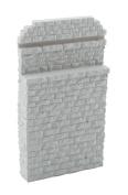 Walthers HO Scale Single-Track Railroad Bridge Stone Abutment - Resin Casting