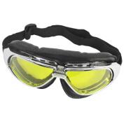 Lady Men Outdoor Activity Adjustable Strap Ski Goggles Eye Protector
