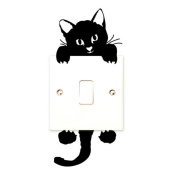 Vovotrade® Cute Funny Cat Wall Stickers Light Switch Decor Decals Art Mural