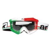 904631 Ariete Glamour Anti-Fog Radiation Protection Goggles Red/White/Green