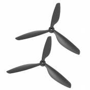 Unique Bargains 2Pcs Black Plastic RC Aeroplane Prop Propeller Paddle 9x4.5 + Shaft Adapter Rings