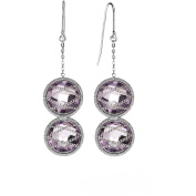 5th & Main Sterling Silver Hand-Wrapped Double Amethyst Stone Earrings