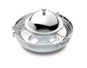 Chinelli 2190 porte-caviar Silver Round with Lid, 18 x 18 x 10 cm, silver