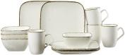 Ritzenhoff & Breker Brunch/Casa Breakfast Set, Set of 12 Ceramic Cream 38 x 27 x 27 cm, – Units