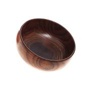 MagiDeal Wood Round Fruit Snack Dessert Wood Handmade Serving Kitchen Bowl 2 Sizes - Brown, 17.5x7cm