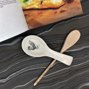 Country Kitchen Hen Ceramic Spoon Rest by Gisela Graham.