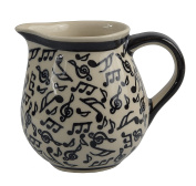 Traditional Polish Pottery, Handcrafted Ceramic Cream or Milk Jug 275ml, Contemporary Pattern, J.101.MELODY