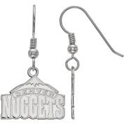 LogoArt NBA Denver Nuggets Sterling Silver Dangle Earrings