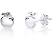 Disney Princess Women's Sterling Silver Snow White Apple Stud Earrings