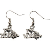 Charming Accents Wire Earrings, Love My Dog