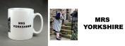 "Yorkshire mug ""MRS YORKSHIRE"" 330ml Ceramic Large Handle Mug. Christmas, birthday, stocking filler. Gift."