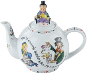 "Cardew Alice in Wonderland 4 cup Mad Hatter's Tea Party ""You're Bonkers"" teapot 890ml"