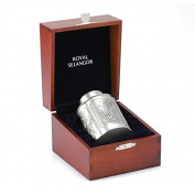 Royal Selangor Hand Finished Four Seasons Collection Pewter Airtight Tea / Coffee Caddy (S) in Wooden Gift Box