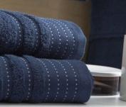 Blanc des Vosges Sir Bath Towel Cotton 110 x 55 cm Navy