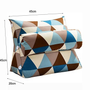 GYP Triangle cushion, Neck pillow Sofa pillow Big bedside cushion Bed pillow Office chair backrest Cushion Neck protection Waist Backrest 45 * 45 * 20cm buy
