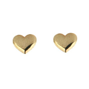 18KT Yellow Gold Polished Heart Post Earring 6mm